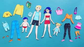FAMILY PAPER DOLLS DRESS UP FATHER MOTHER DAUGHTER SON #paperdolls #dressup #happydolls