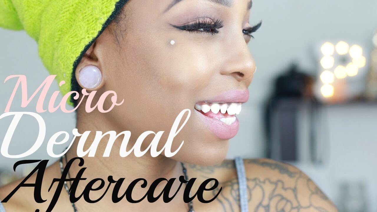 How To Care Heal Infected Dermal Piercing Youtube