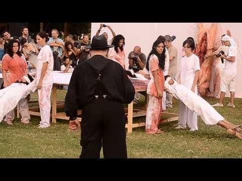 Hermann Nitsch, Aktion 135, XI Bienal de la Habana 2012