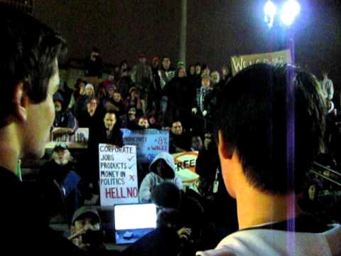 Vanderbilt student addresses Occupy Nashville