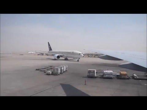 Emirates B777 - 300, Karachi to Dubai full flight.