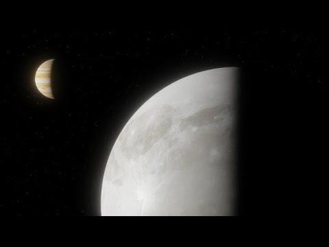 Hubble Finds Evidence of Water Vapor at Jupiter's Moon Ganymede