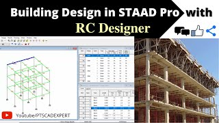 Building Design In STAAD Pro With RC Designer | STAAD Pro V8i SS6