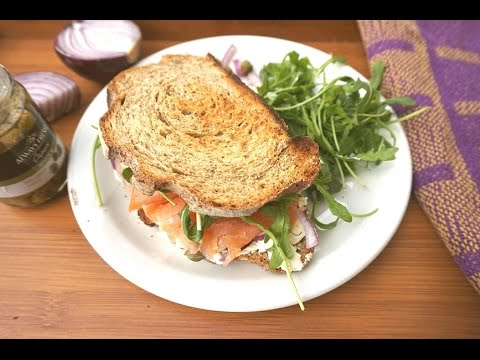 Salmon And Cream Cheese Sandwich - Easy And Delicious!