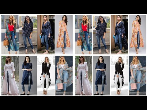 eid-denim-dress-for-women/jeans-and-long-kurti-dress-designs-2020