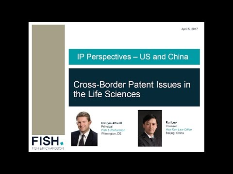 Webinar | IP Perspectives - US & China Webinar Series- Cross-Border Patent Issues
