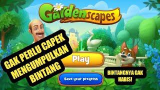 TUTORIAL MAIN GAME GARDENSCAPES DENGAN BINTANG YANG TAK TERBATAS screenshot 5