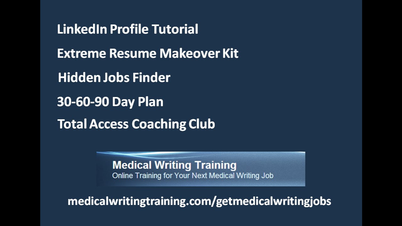online training for your next medical writing job