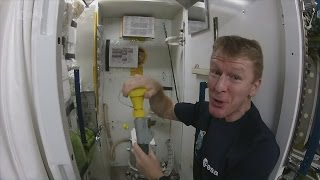Tim Peake on using the toilet on the International Space Station