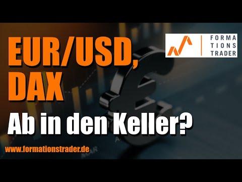 Analyse EURUSD, DAX:  Ab in den Keller?