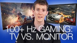 Are TVs as good as Monitors for Gaming? 144Hz Monitor vs 120Hz TV(So you wanna hook up your gaming PC to your big ol' living room TV. Should you? Depends. On what? No, I'm wearing Depends. They're a real lifesaver., 2015-07-07T18:56:08.000Z)