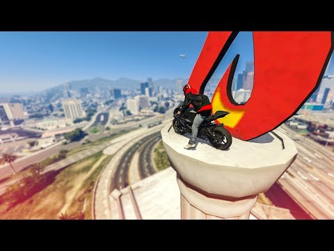 ONE OF MY BEST BIKE STUNTS! – (GTA 5 Stunts & Fails)