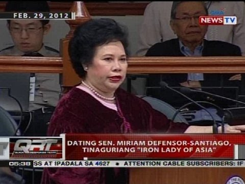 QRT: Dating Sen. Miriam Defensor-Santiago, tinaguriang 'Iron