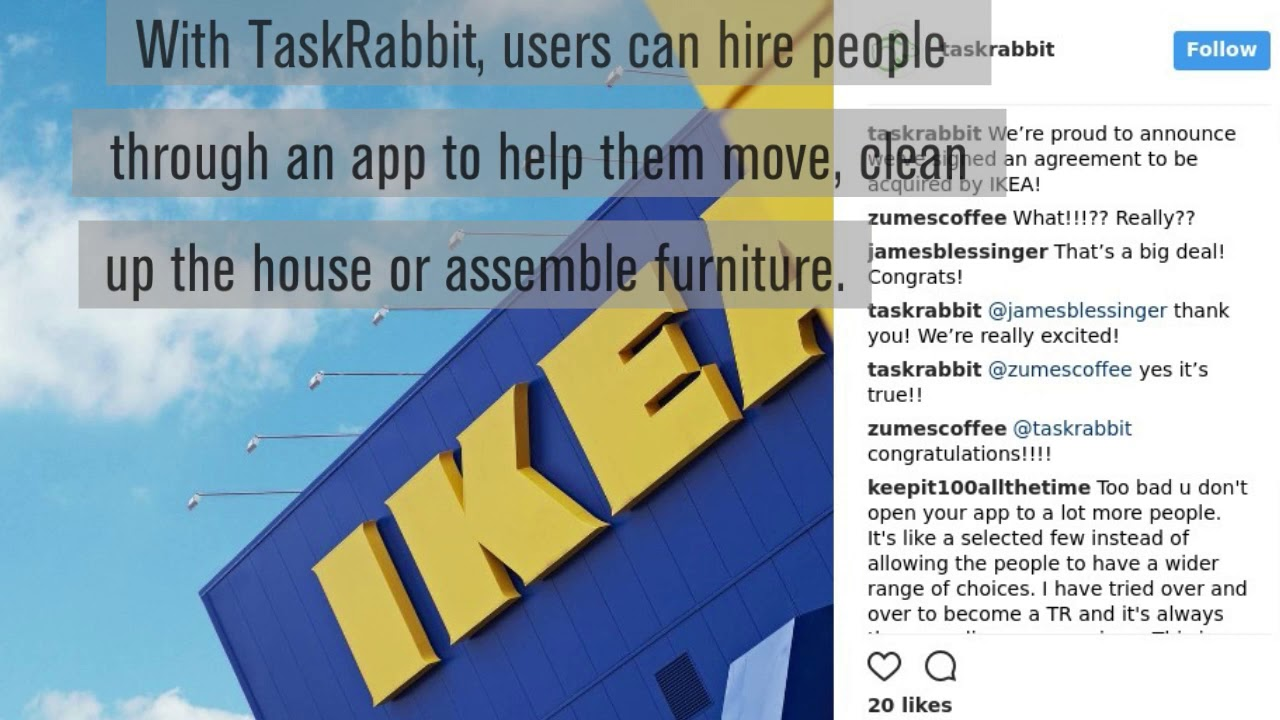 Ikea is buying TaskRabbit, a platform for hiring someone to assemble your  furniture