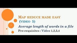 Average length of words MAP REDUCE (HADOOP MADE EASY - VIDEO 5)