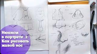 Нюансы в портрете 2/ Как рисовать живой нос