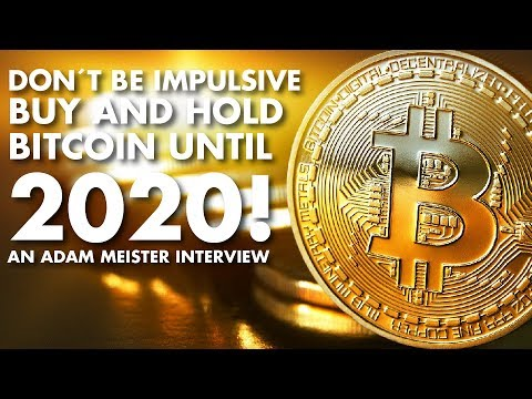 Don't be impulsive! Buy and Hold Bitcoin until 2020! - Adam Meister Interview