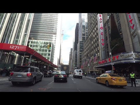 Driving in New York City 4K - Avenue of the Americas - New York, USA