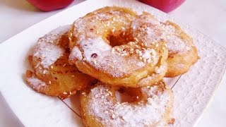 Пончики, Яблочные Пончики, Яблоки в Хрустящем Кляре