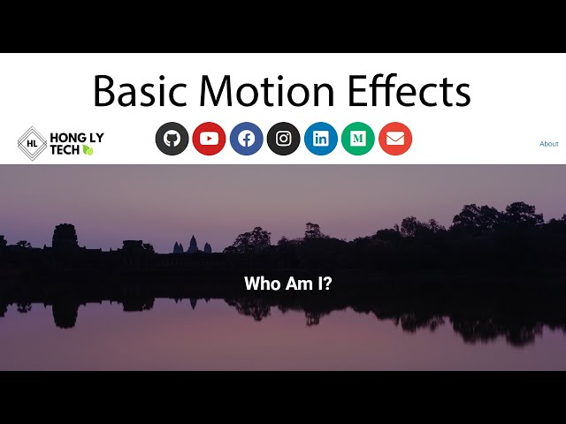 Apply Motion Effects to Make Stunning About Page | WordPress Tutorial