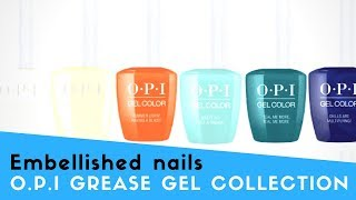 OPI Grease gel collection swatches