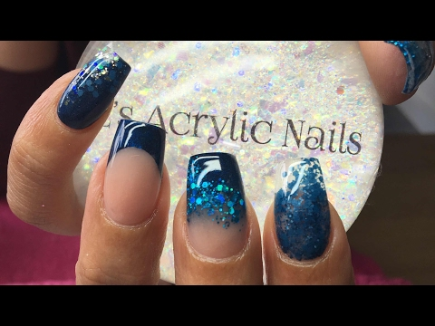 Acrylic Nails | Sapphire Blue | Square Nails