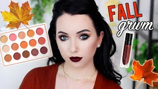 Shadow & Schmooze! Get Ready with Me | Vampy Fall Makeup using NEW Karity Just Peachy Palette!