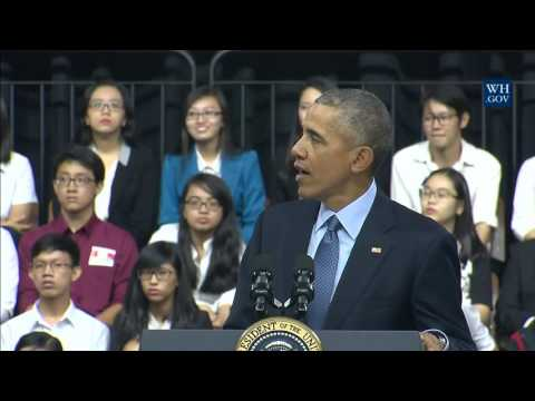 Obama's Town Hall In Vietnam - Full Event