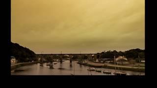 Un ciel jaune à Hennebont