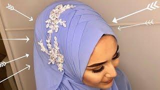 Occasional Criss Cross Hijab Style I Laced I Türban I Mezuniyet I Wedding I Nisan I Kina I Dügün
