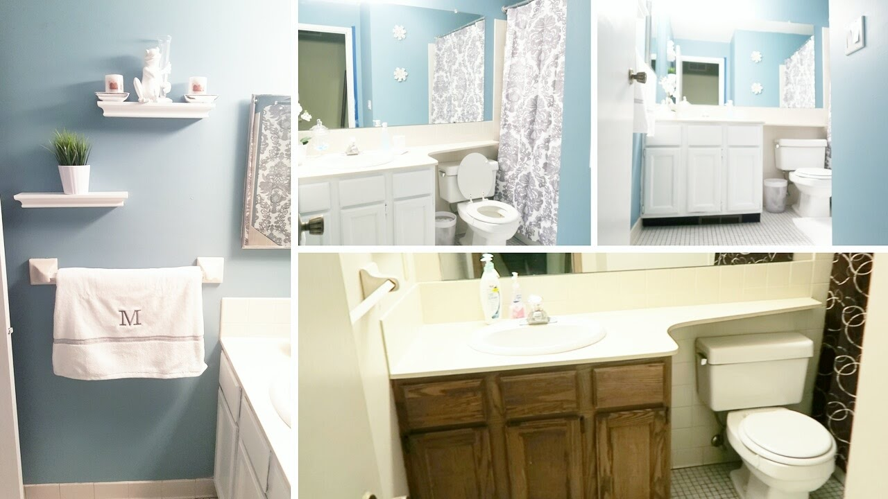 Bathroom Extreme Makeover extreme bathroom makeover on a budget for under $200.00 - youtube