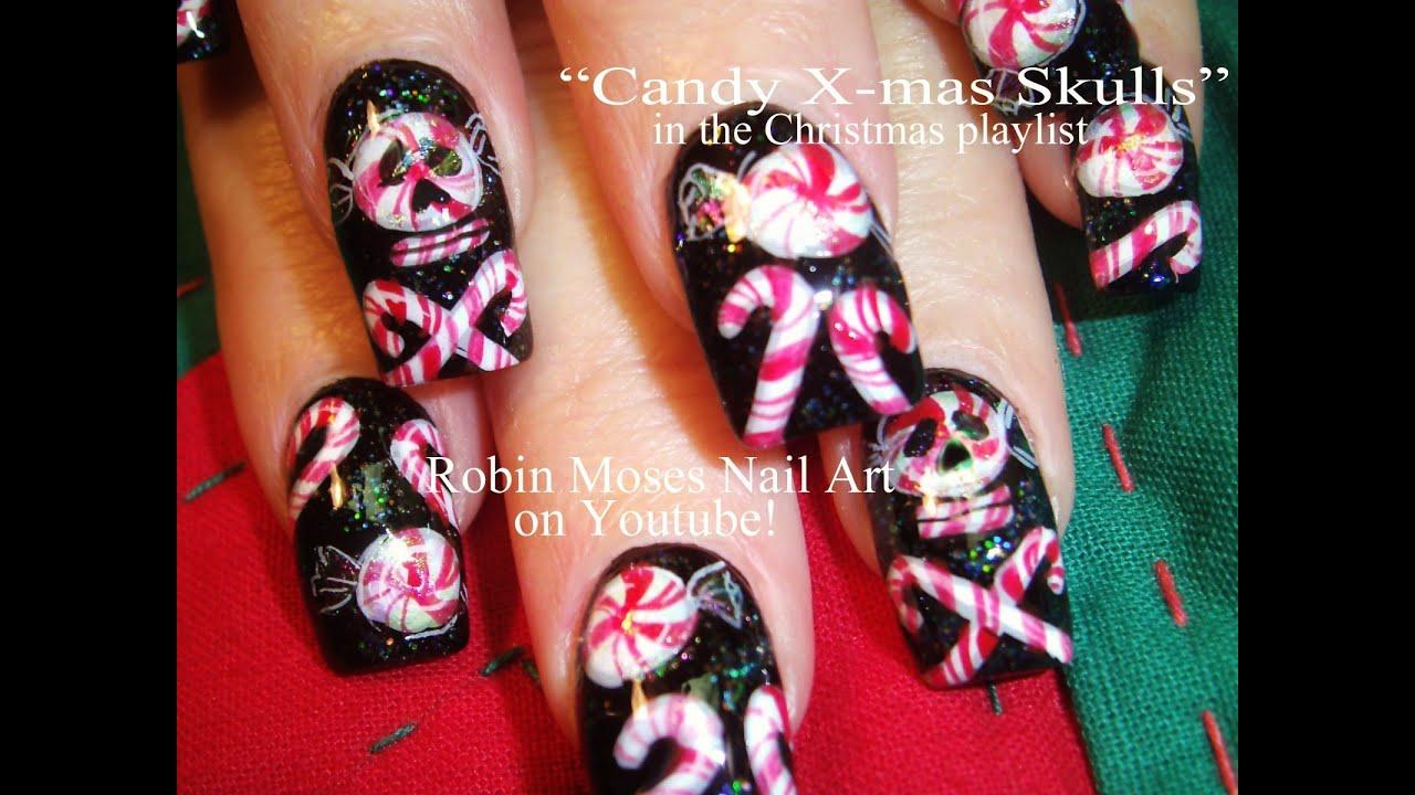 Diy Crazy Christmas Candy Nail Art Design Tutorial