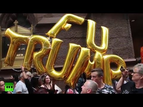 """""""New York hates you"""" Protesters shout outside Trump Tower"""