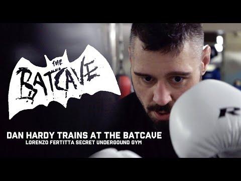 DAN HARDY TRAINS AT THE BATCAVE