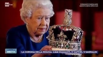 """Regina Elisabetta: """"La corona è così pesante da spezzare il collo"""" - La Vita in Diretta 16/01/2018"""