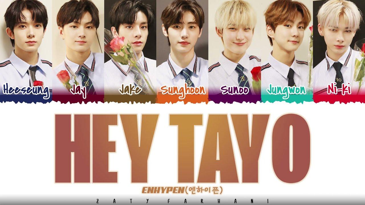 ENHYPEN X TAYO - 'HEY TAYO' (Tayo Opening Theme Song) Lyrics [Color Coded_Han_Rom_Eng]