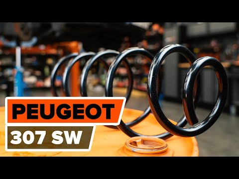 How to change front springs PEUGEOT 307 (3H) [TUTORIAL AUTODOC]
