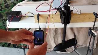 wireless pro pwm set up and test for diy modified kayak trolling motor