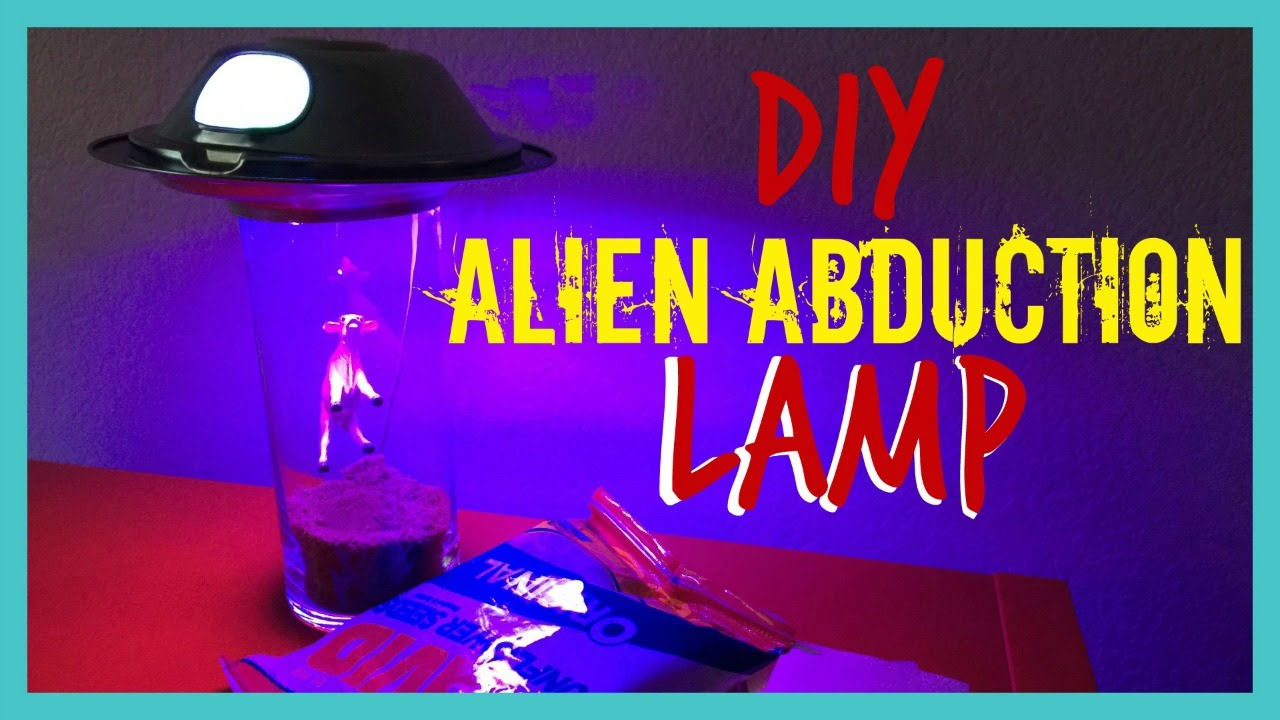 DIY Alien Abduction Lamp