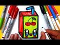 Sevimli Meyve Suyu Çizimi 🍒Kolay Çizimler😘Resim Çizimleri ...