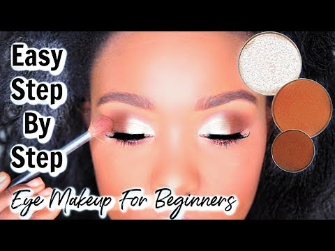 TRY THIS!! Beginner Eye Makeup Tutorial -  How To Apply Eyeshadow WOC / Black Women ft Jackie Aina
