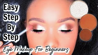 Beginners Eye Makeup Tutorial STEP BY STEP  - How To Apply Eyeshadow ft Jackie Aina I Rose Kimberly