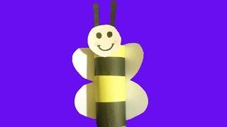 Как сделатъ  пчелы из цветной бумаги  How  to make papercraft bee