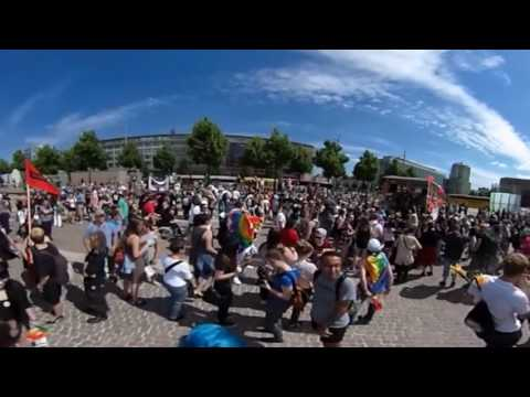 Christopher Street Day 2016 in Leipzig in 360°