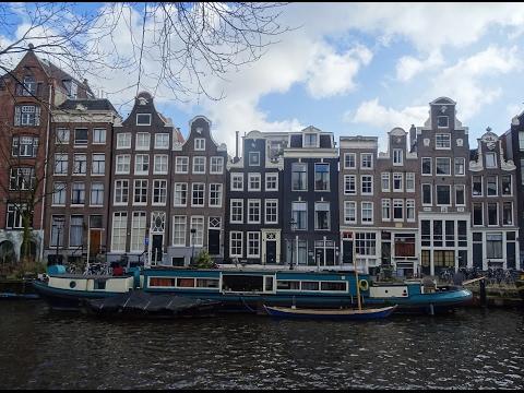 Oude En Nieuwe Gevels In Amsterdam