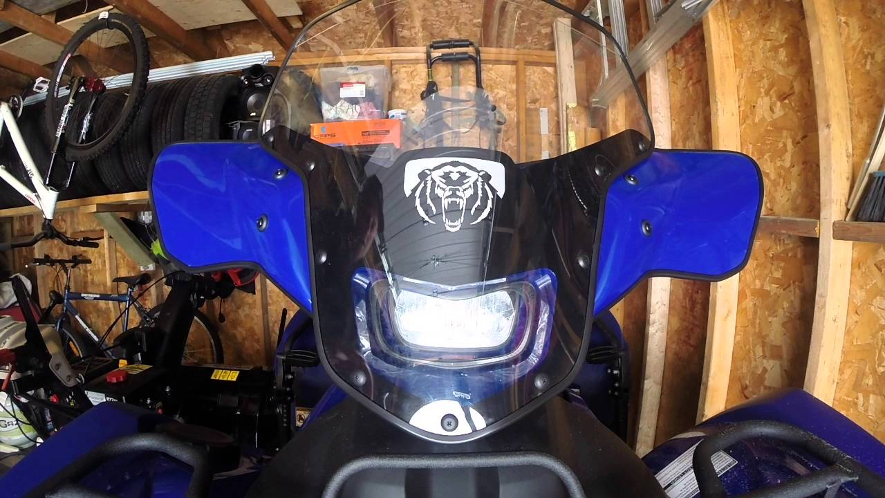 Yamaha Grizzly 700 >> 2016 Yamaha Grizzly Windshield review / Quick look - YouTube
