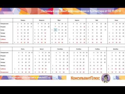 Ставропольский производственный календарь 2017