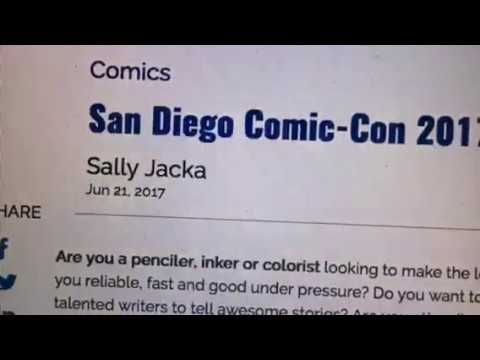 San Diego Comic Con 2017 Skybound Art Portfolio Reviews At #SDCC