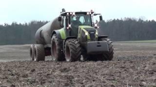 Najnowocześniejsza  chlewnia w Polsce & Gnojownica Z Claasą & CLAAS AXION 850 PICHON