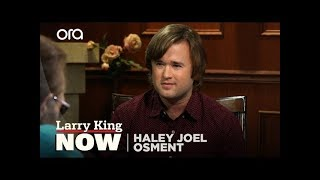 "Haley Joel Osment on ""Larry King Now"" - Full Episode Available in the U.S. on Ora.TV"